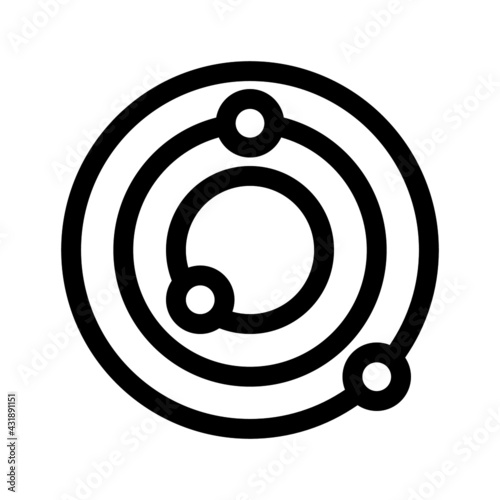 Tablou Canvas Solar system vector icon flat style illustration isolated on white background