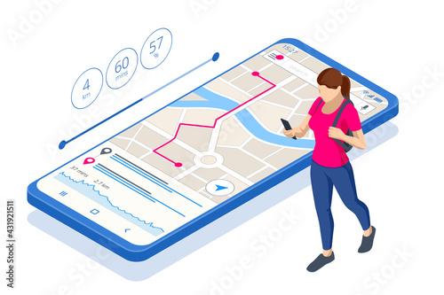Fotografie, Obraz Isometric gps navigation concept