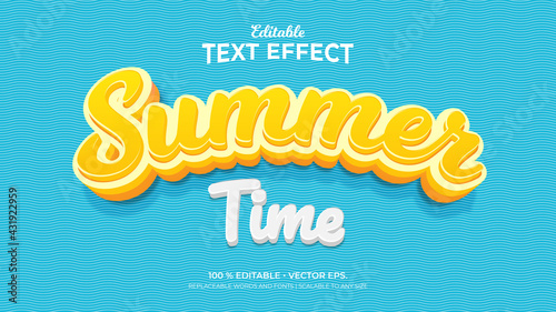 Fotografia Text Effects, 3d Editable Text Style - Summer Time