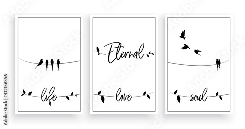 Obraz na plátně Eternal life, eternal love, eternal soul, vector