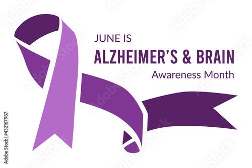 Photo Alzheimer's and Brain Awareness Month. Vector illustration