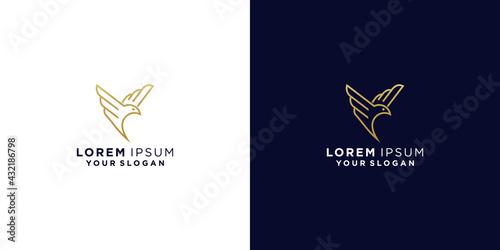 Stampa su Tela bird line logo design inspiration