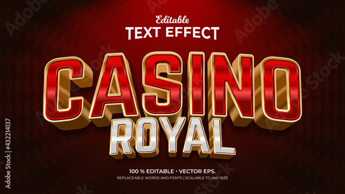 Photo Casino Royal 3d Style Editable Text Effects