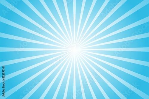 Fototapeta Abstract blue background with sun ray. Summer vector illustration