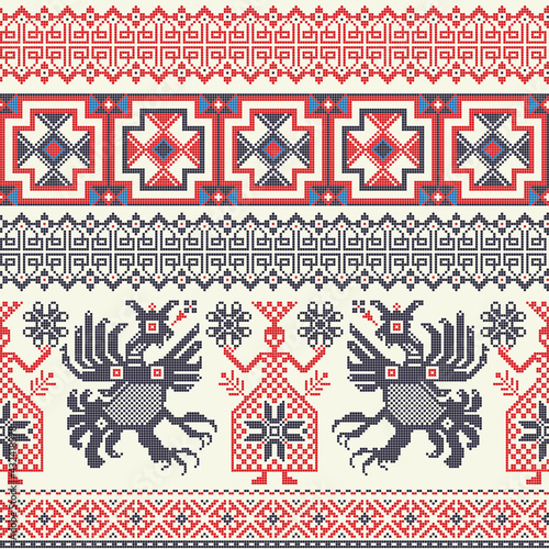 Canvas Print Russian pattern 9