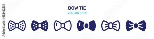 Fotografia Set of bow tie icons.