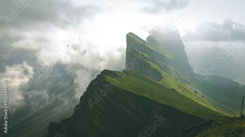 Fotografie, Obraz The unique cliff of Seceda - The Dolomites - South Tyrol