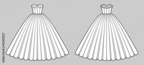 Fotografie, Tablou Ball gown dress