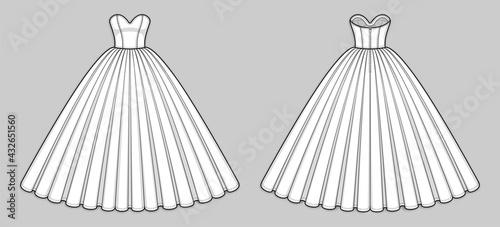 Canvas Ball gown dress