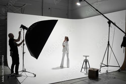Fotografia Fashion photography in a photo studio