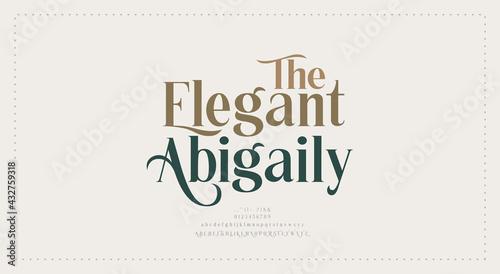Fotografie, Obraz Elegant wedding alphabet letters font and number