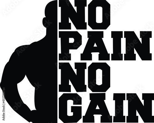 Wallpaper Mural No Pain No Gain