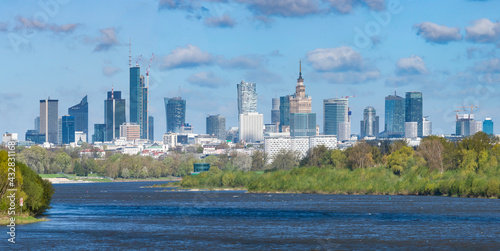 Fototapeta premium Warszawa, panorama miasta
