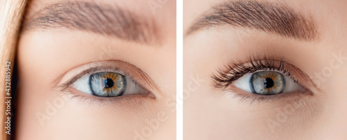 Canvastavla Eyelash extension procedure before and after