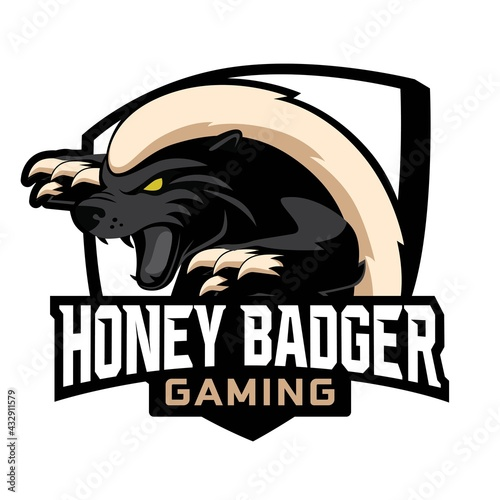 Tablou Canvas Honey Badger Mascot Gaming Logo Design
