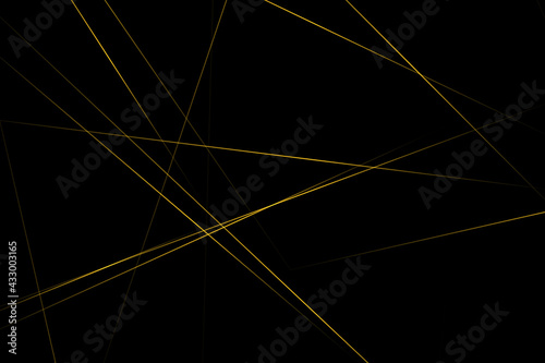 Abstract black with gold lines, triangles background modern design. Vector illustration EPS 10.