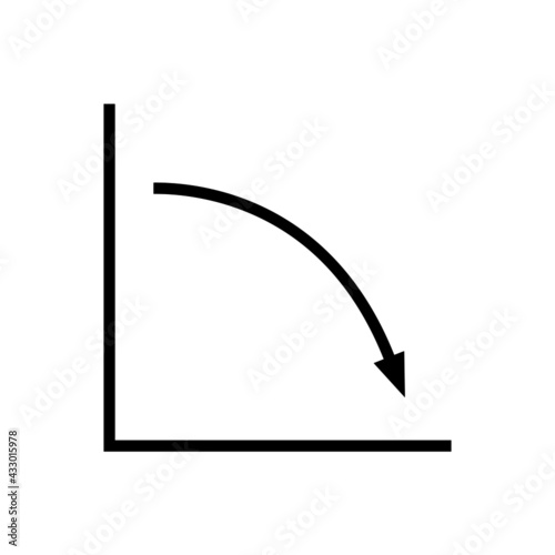 Decline trend icon Fototapeta