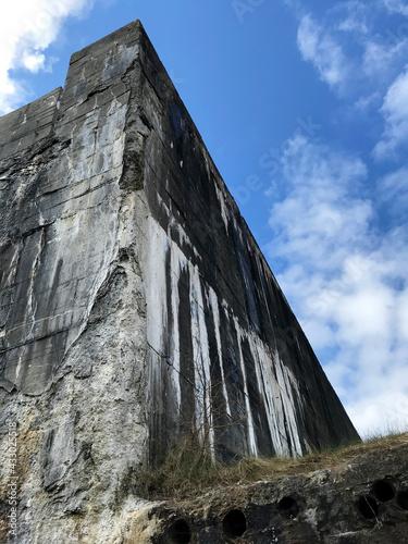 Canvas Print Ruins of a World War II bunker in Blåvand Denmark