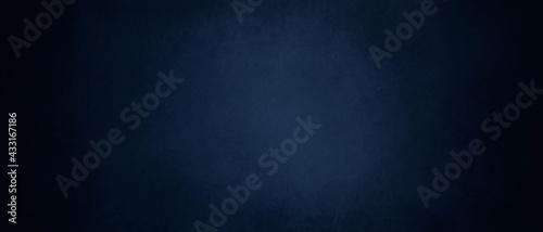 Tablou Canvas dark blue background texture with black vignette in old vintage textured border