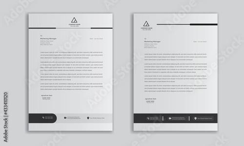 Fényképezés modern business letterhead in abstract design