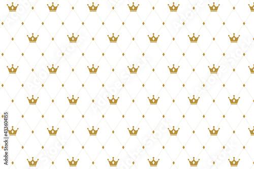 Fotografie, Obraz premium crown pattern texture background design
