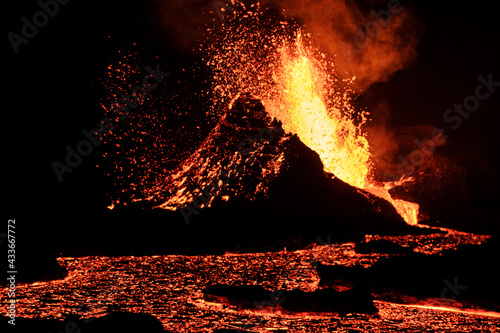 Canvastavla Volcano eruption in Iceland