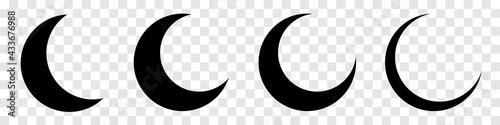 Fotografia Moon crescent icon set