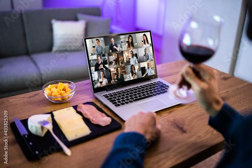 Canvas Print Virtual Wine Tasting Dinner Event Online