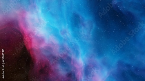 Fotografia Beautiful nebula in cosmos far away 3d rendering