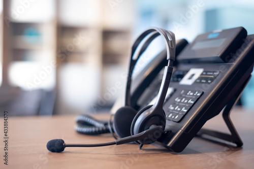 Fotografiet Communication support, call center and customer service help desk