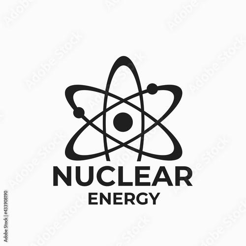 Fototapeta nuclear energy logo