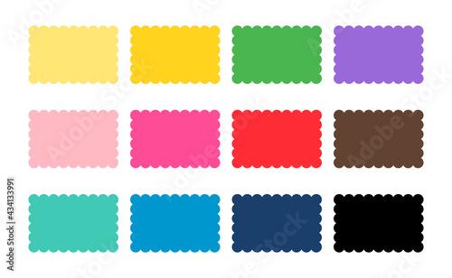 Obraz na plátně Scalloped rectangle shape multicolored