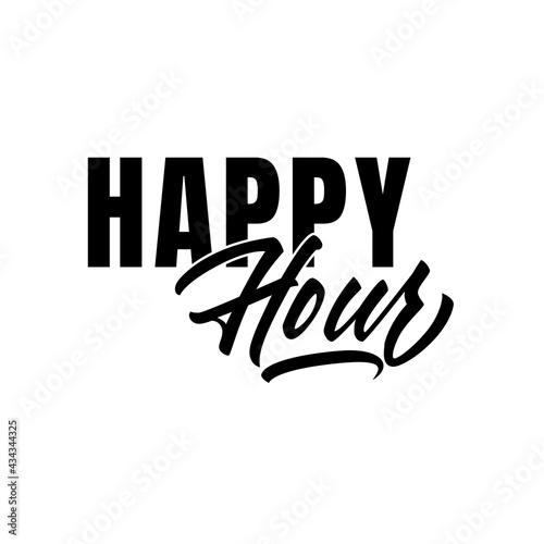 Fotografia, Obraz Happy Hour lettering in good quality in vector