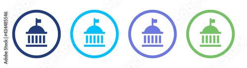 Canvastavla Government icon set, vector illustration