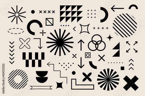 Fototapeta Abstract geometric elements bauhaus swiss style