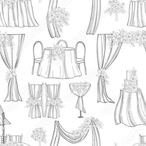 Fotografia Wedding set. Vector   pattern.