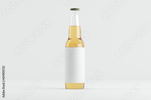 Canvas Print Beer Bottle Mockup 3D Illustration