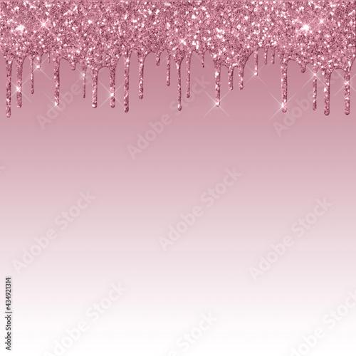 Slika na platnu Dripping Dark Pink Glitter Digital Paper