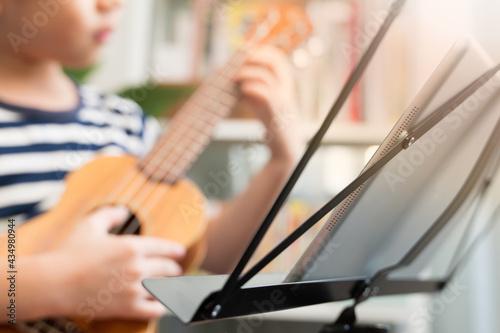 Canvas Print Online music class lesson concept