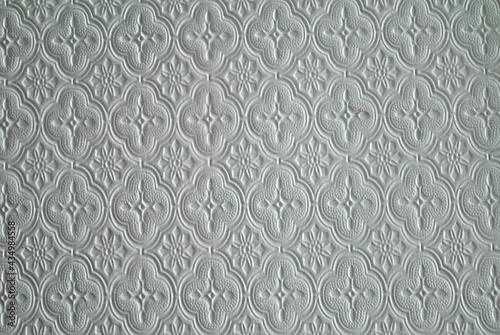 Zdjęcie tekstury przedstawiające wzór kwiatowy na szkle
