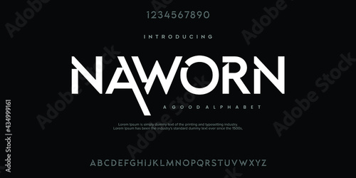 Abstract minimal modern alphabet fonts Fototapet