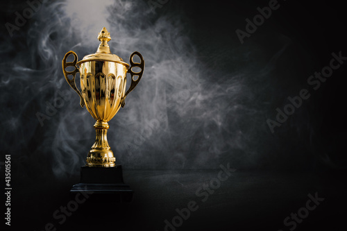 Fototapeta 1st champion award, the best prize and winner concept, championship cup or winne
