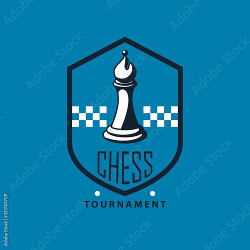 Fotomural chess bishop shield