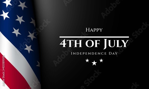 Canvas Print United States Independence Day Background. Fourth of July.