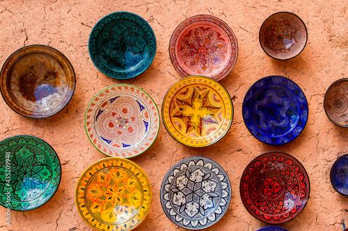 Murais de parede Colorful ceramic plates for sale