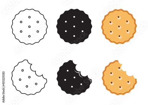 Stampa su Tela Simple biscuit icon. Food icon. Vector Illustration