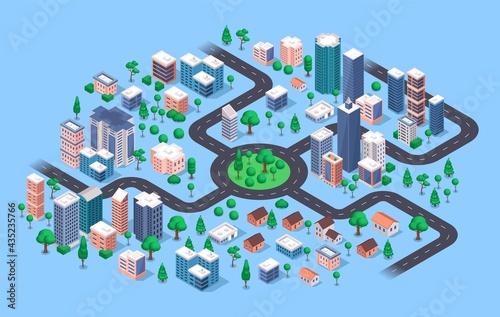 Isometric city Fototapeta