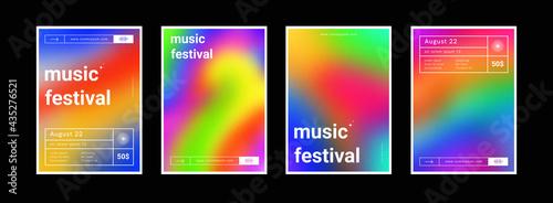 Obraz na plátně Set of gradient colorful backgrounds