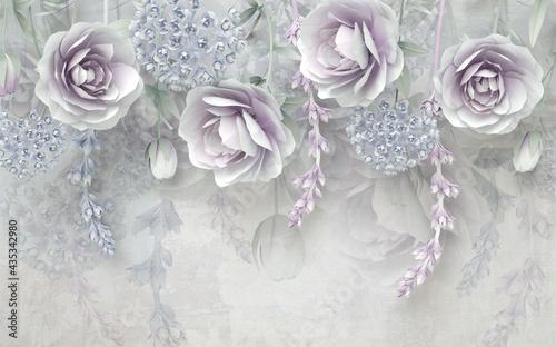 Fototapeta z kwiatami 3d
