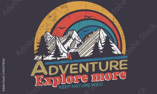 Foto Mountain camping  t-shirt graphic design